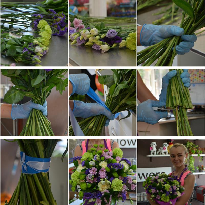 Как собрать букет из роз своими руками