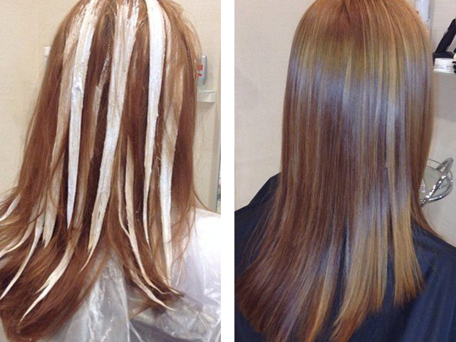 колорирование темных волос фото до и после спицами широко распространено