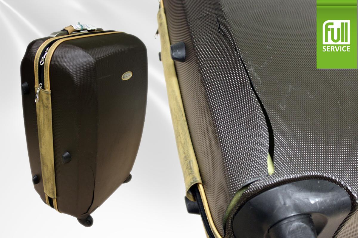 Ремонт корпуса чемодана на колесиках своими руками 78